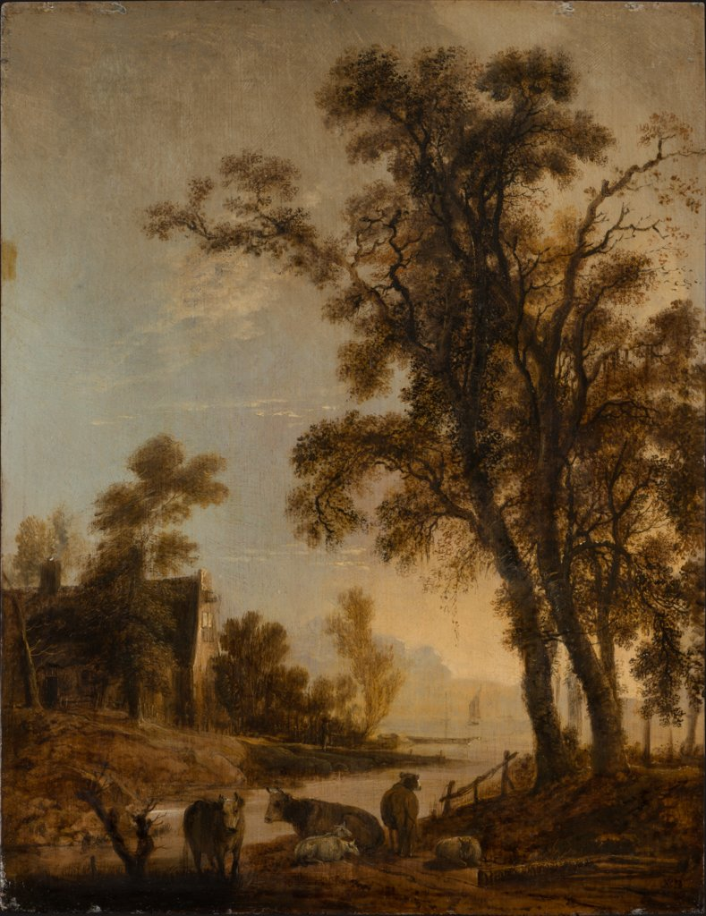 River Bank with Cattle, Aert van der Neer