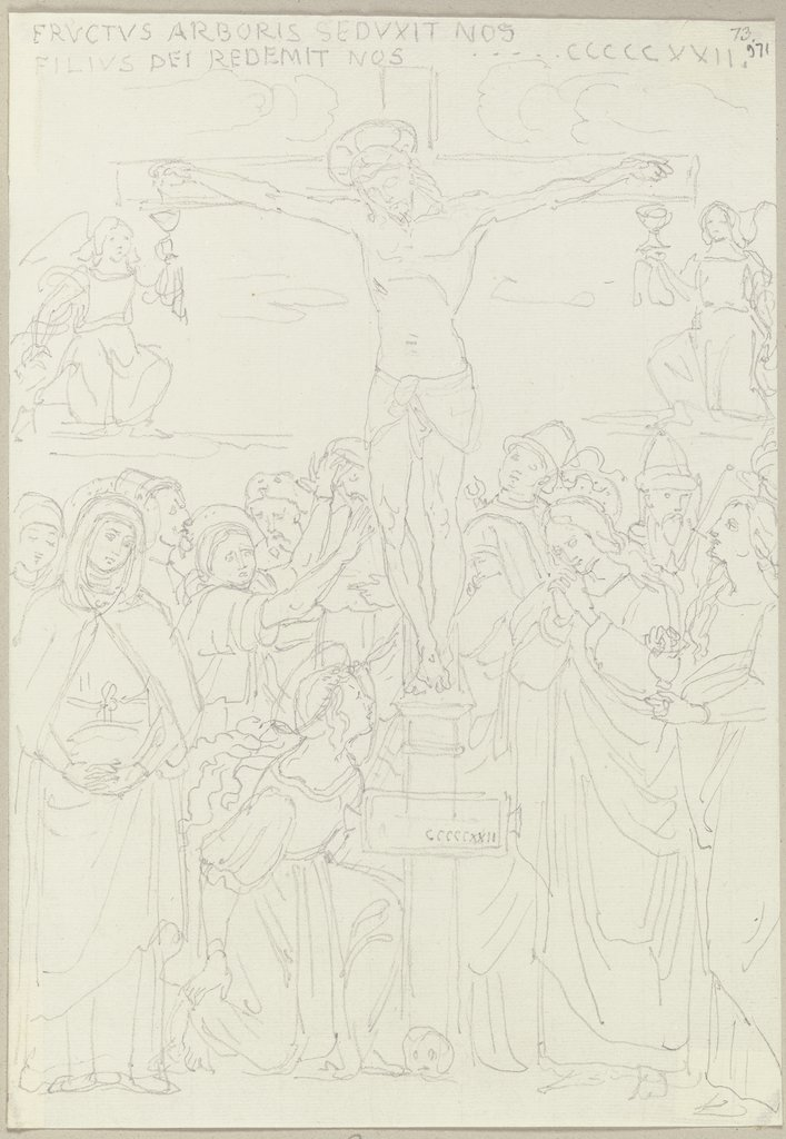 The Crucifixion of Christ, Johann Anton Ramboux, after Pietro Perugino  school