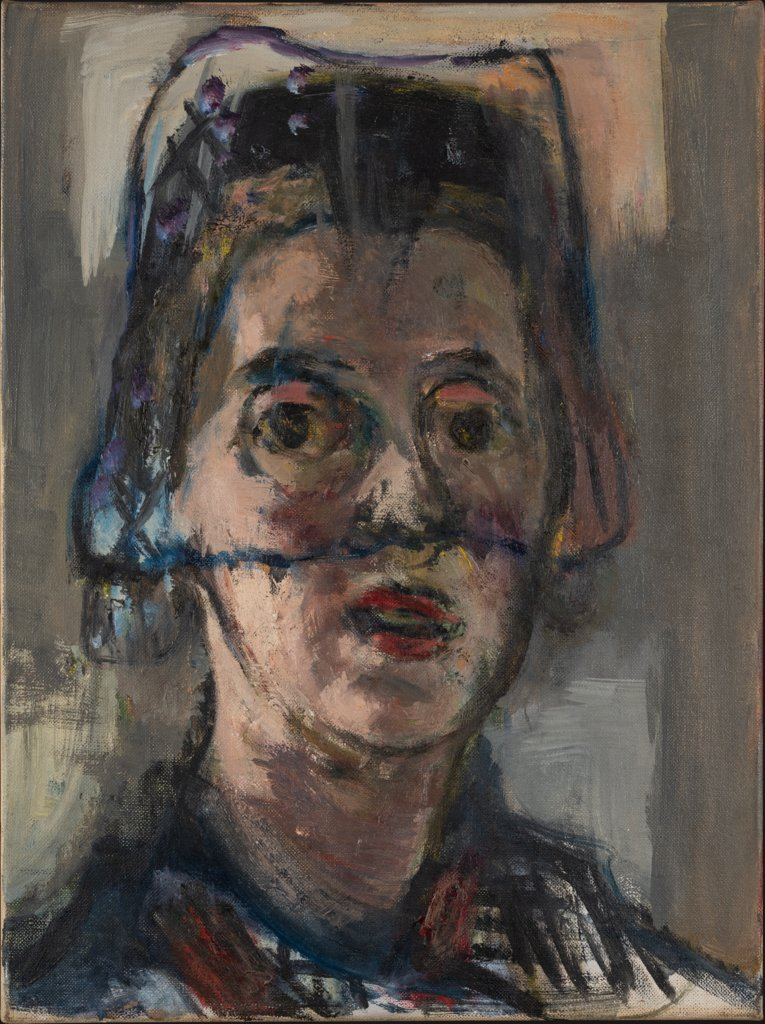 Self Portrait with Veil, Marie-Louise von Motesiczky