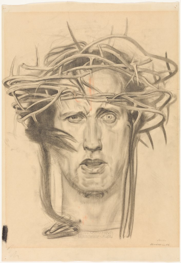 Head of Christ (Self-Portrait with Crown of Thorns). Study, Maximilian Klewer