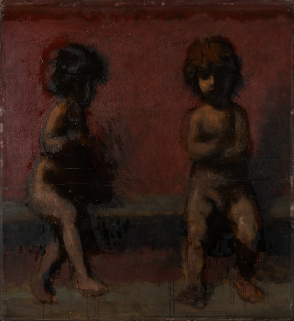 Two Putti, Hans von Marées