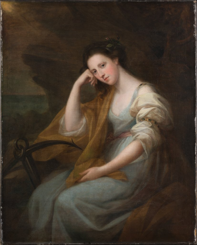 Portrait of Lady Louisa Leveson-Gower (1749/50-1827), later Baroness Macdonald, as Spes, Angelica Kauffmann