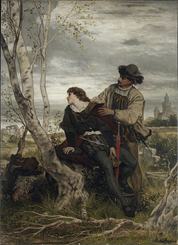 Hamlet and Horatio in the Churchyard, Victor Müller