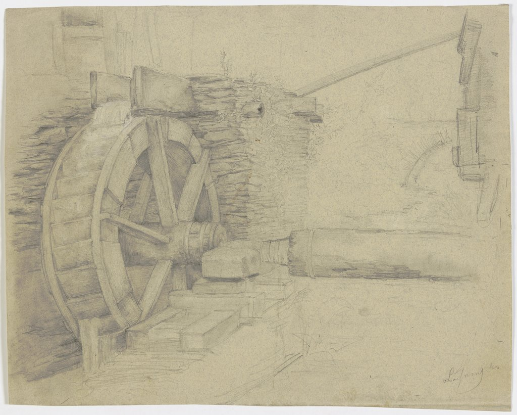 Water mill wheel, Victor Müller