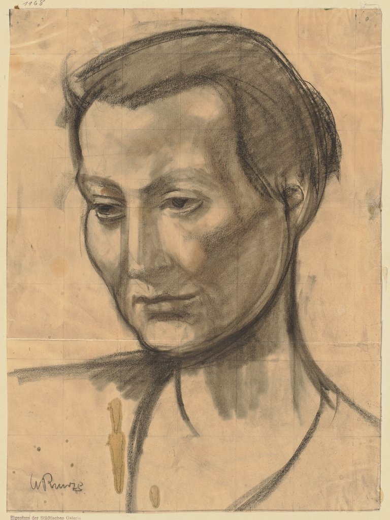 Woman's head, Wilhelm Runze