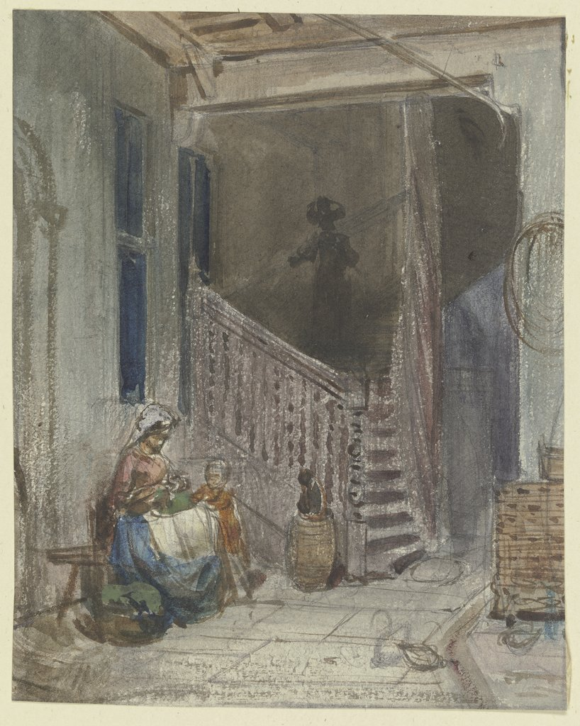 Yard with staircase, Philipp Rumpf