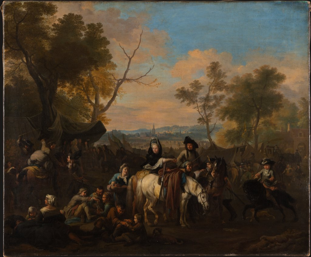 Visit to a Camp, Jan van Huchtenburgh
