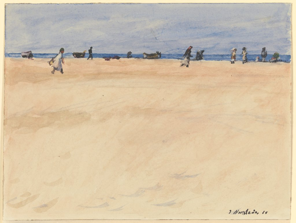 On the Beach at Port Said, Jakob Nussbaum