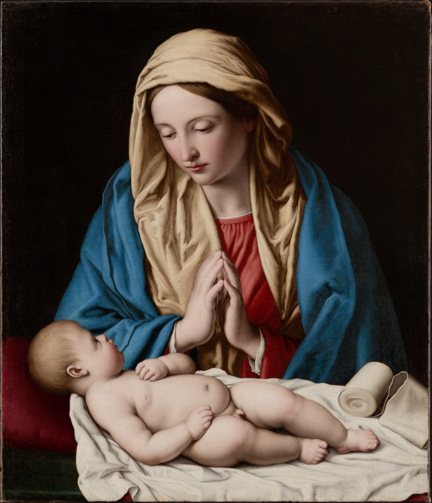 Maria, das Kind anbetend, Sassoferrato (Giovanni Battista Salvi)