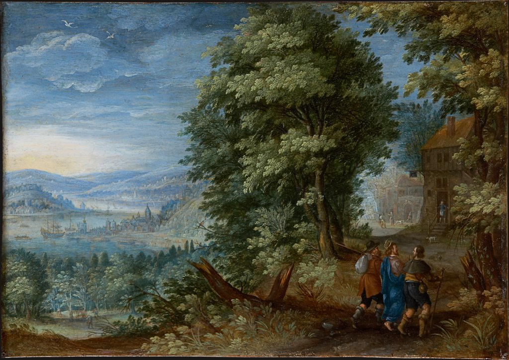 The Walk to Emmaus, Flemish Master ca. 1600