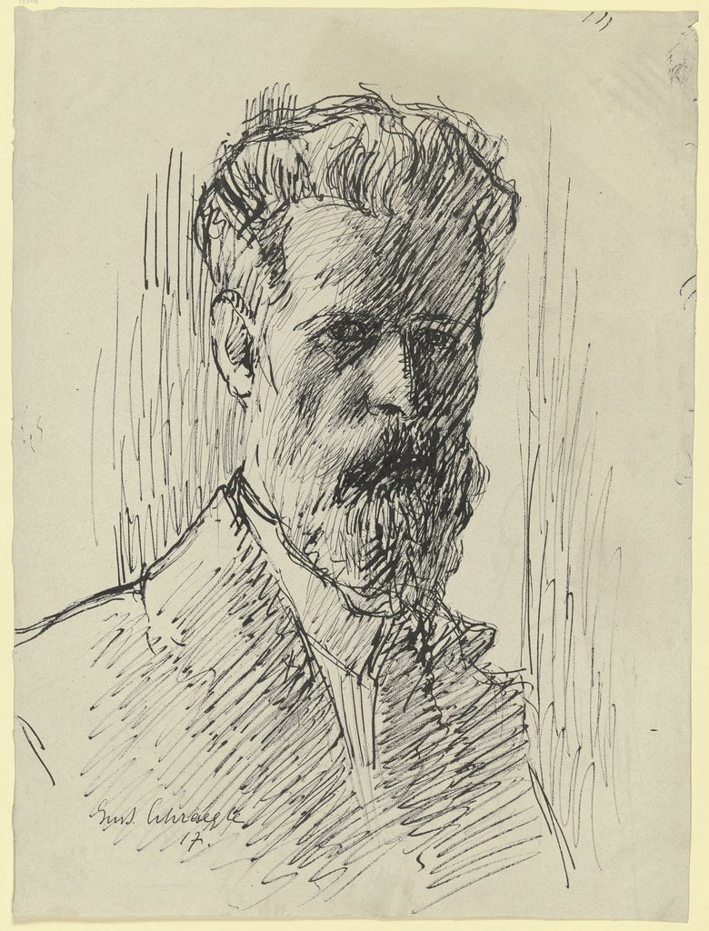 Self-portrait, Gustav Schraegle