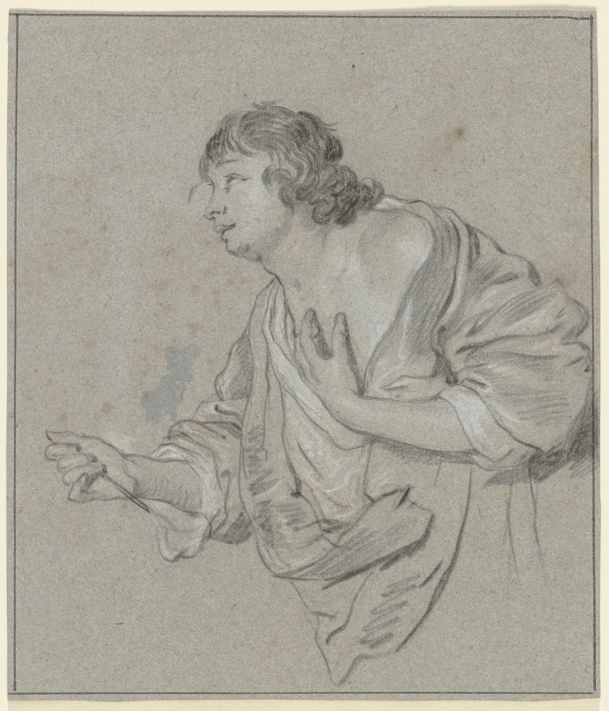 Young man, looking up, Jacob Adriaensz. Backer