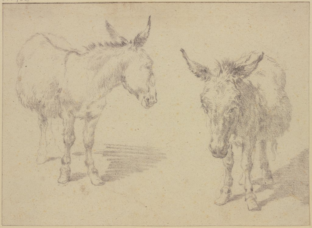 Two donkeys, Nicolaes Berchem