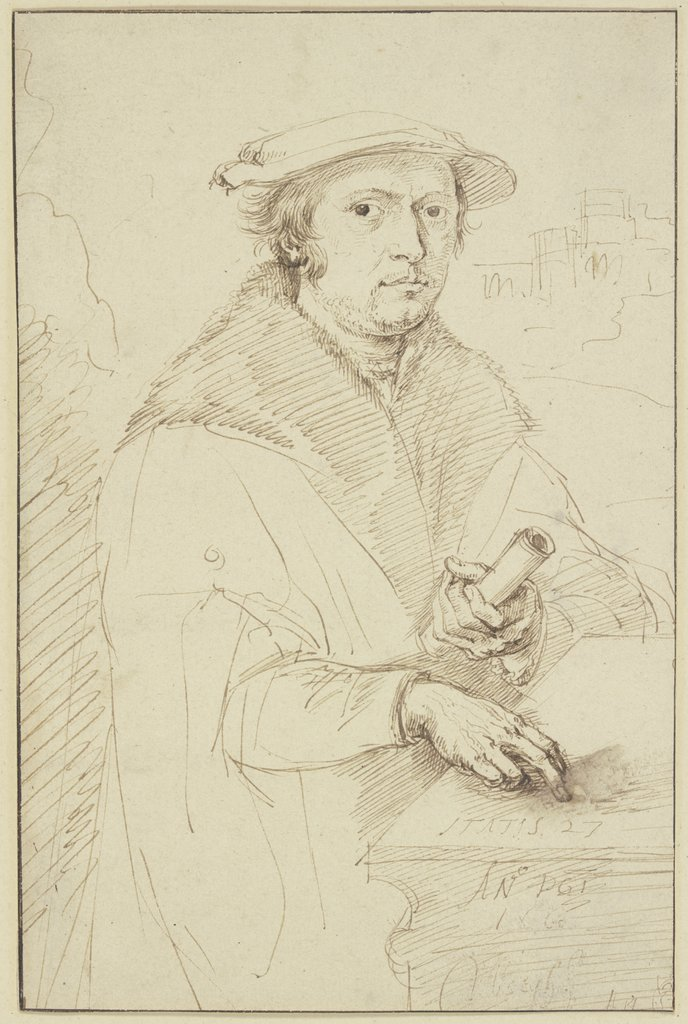 Portrait of a benefactor, Matthys van den Bergh, after Jacob Cornelisz.