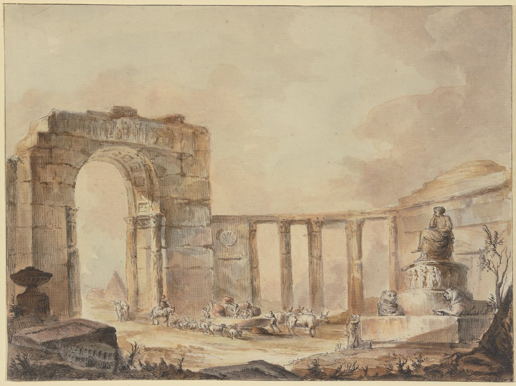 Agrippina's grotto, Georges-François Blondel