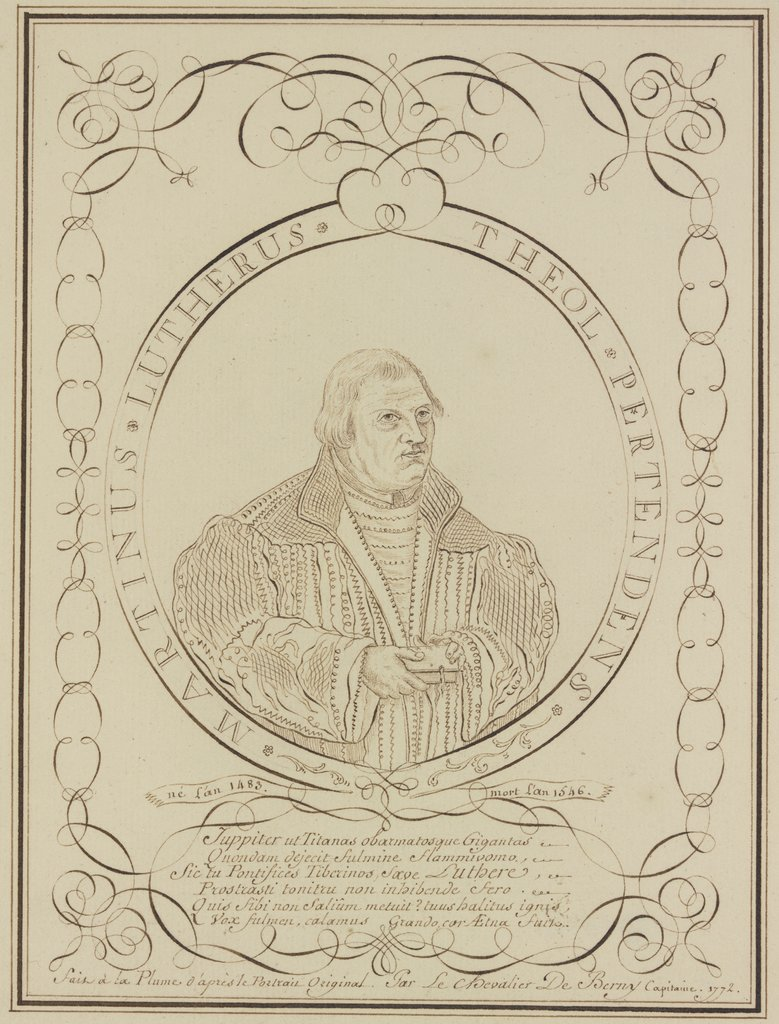 Portrait of Martin Luther, Pierre Jean Paul de Berny