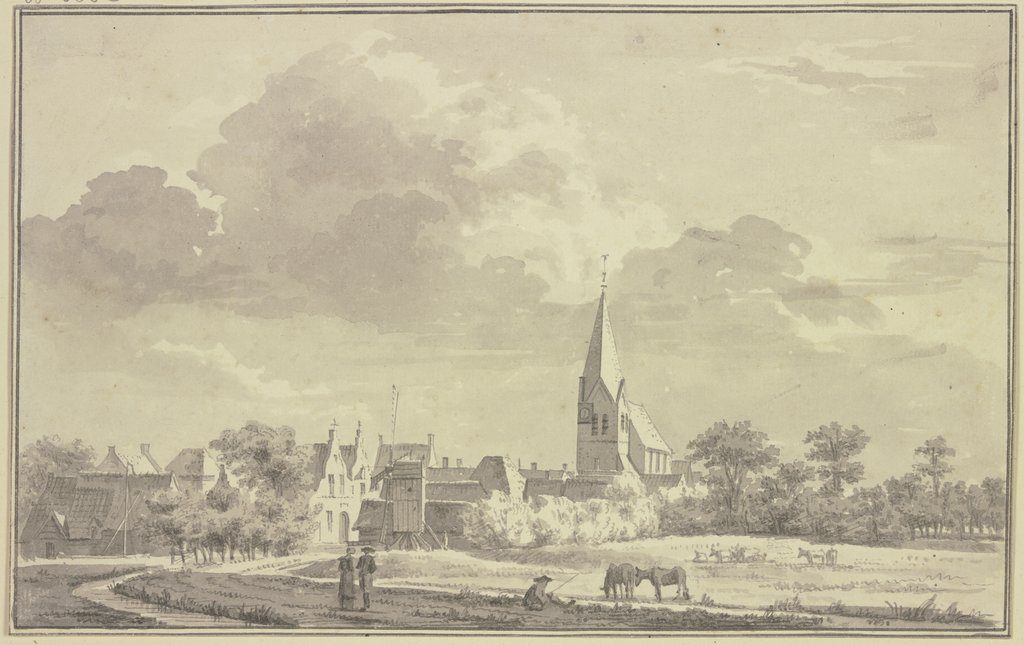 View of Aldeboarn, Jan de Beijer