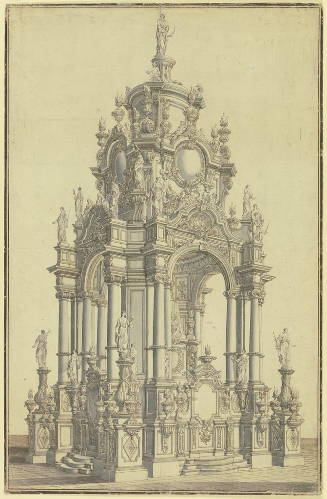 Design for an altar, Alessandro Bibiena