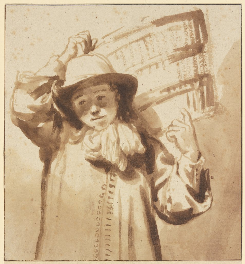 Boy carrying a basket, Gerbrand van den Eeckhout