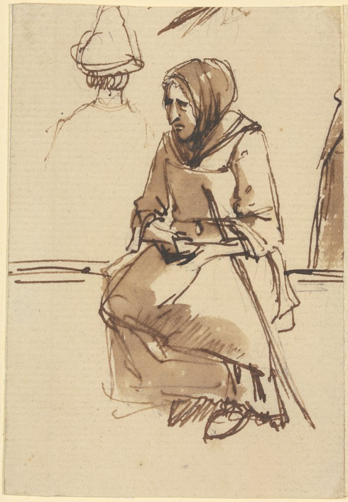 Sitting old woman, Jean-Jacques de Boissieu