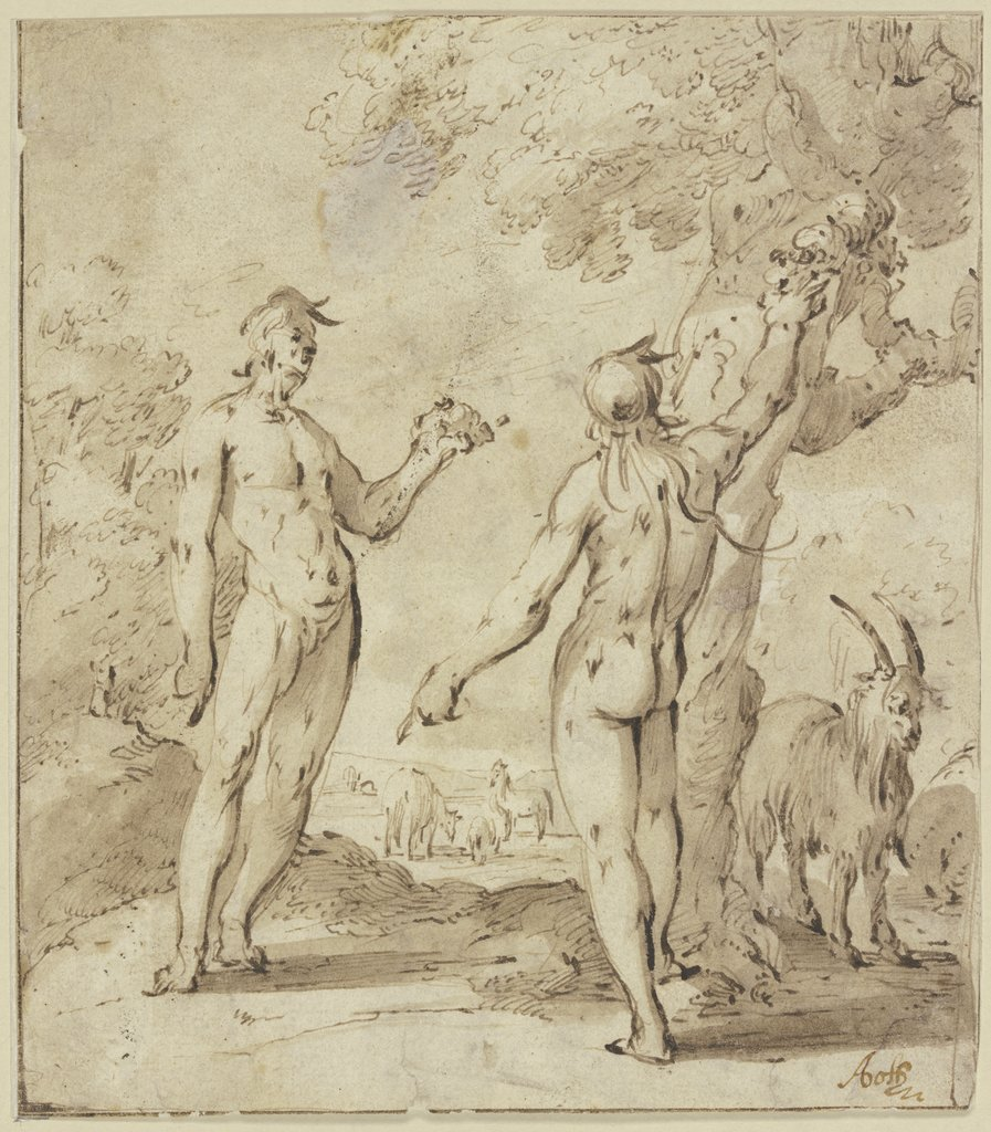 Adam and Eve in paradise, Andries Both