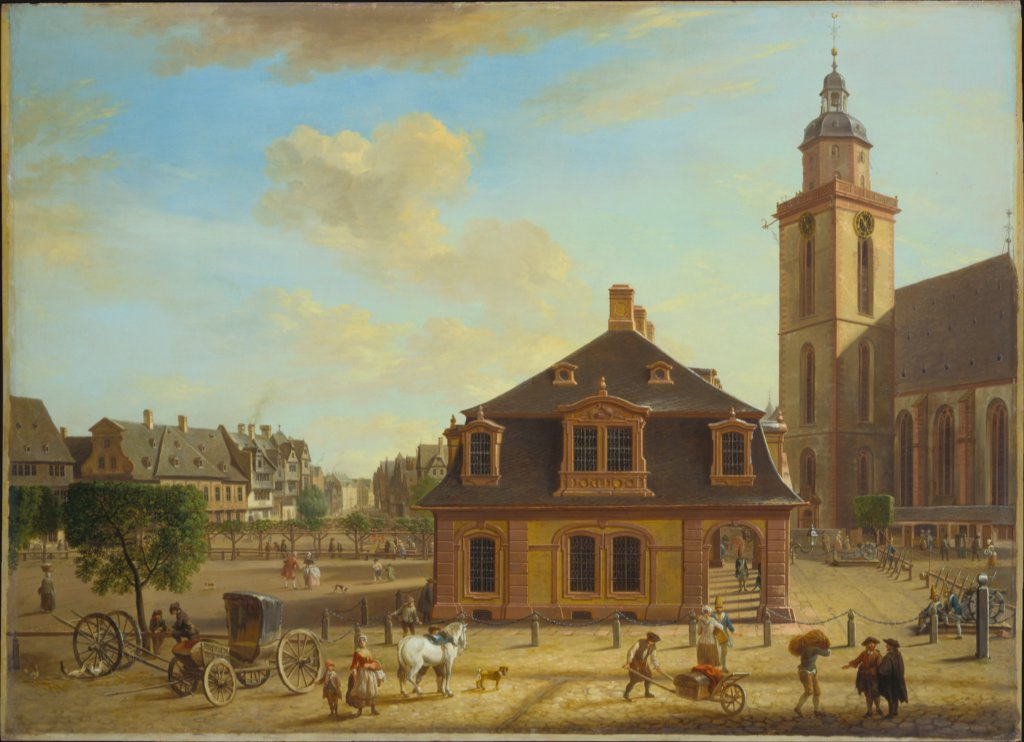 The Rossmarkt in Frankfurt, Christian Georg Schütz the Elder