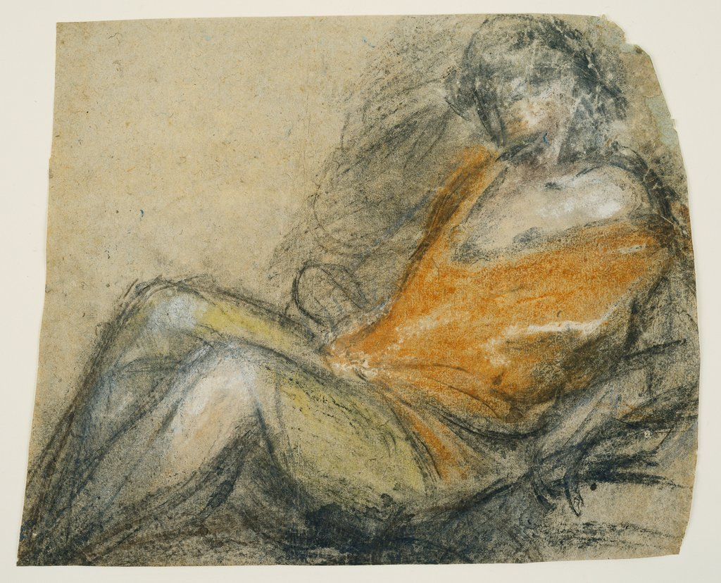 Study of a Recumbent Figure, Jacopo Bassano