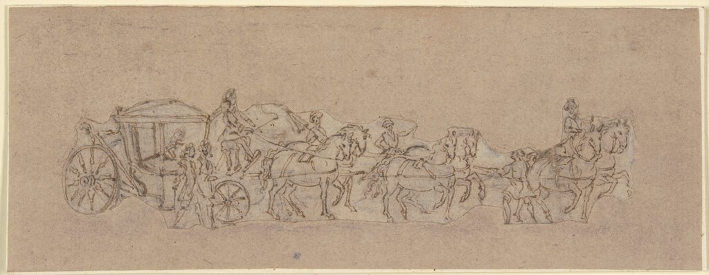 Six-horse carriage, Jacques Callot