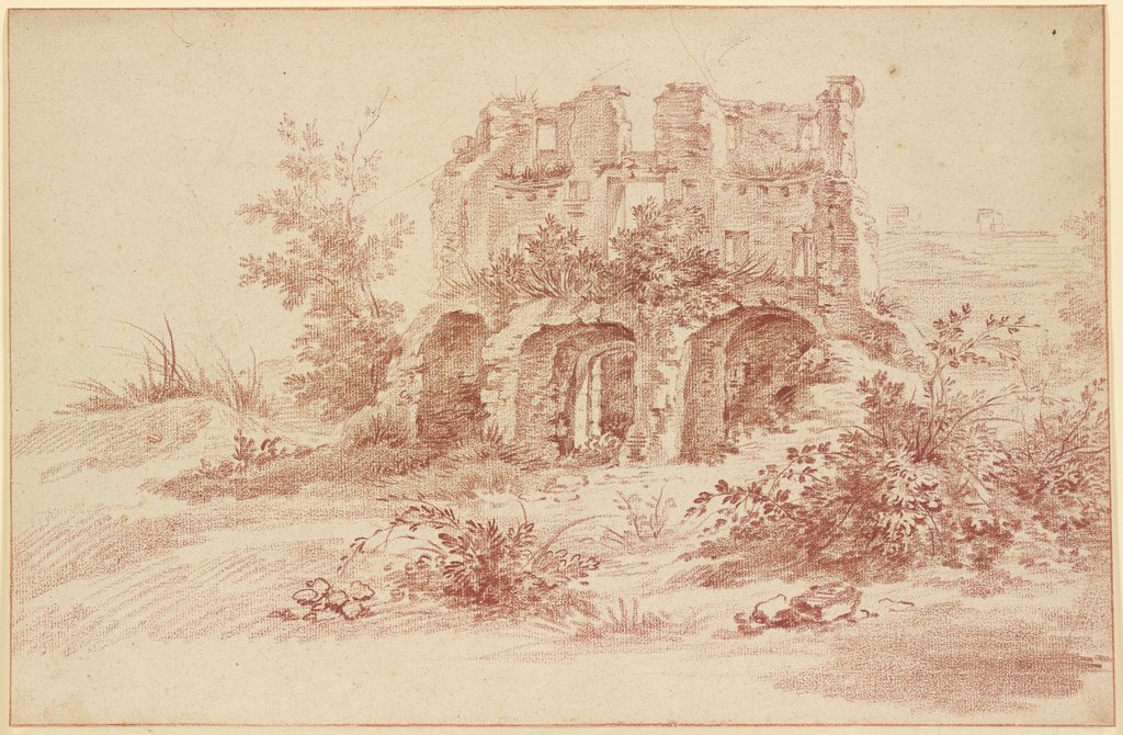 View of a ruin, Jacques Dumont