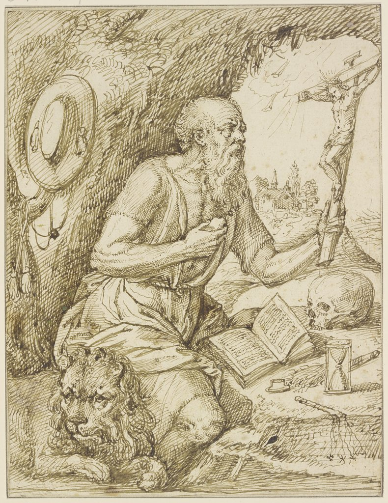 St. Jerome in devotion, Jacques de Gheyn II   ?