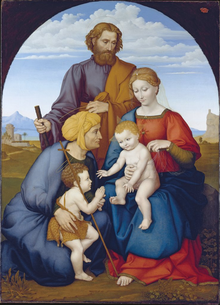 The Holy Family with Elizabeth and Saint John the Baptist as a Boy, Johann David Passavant