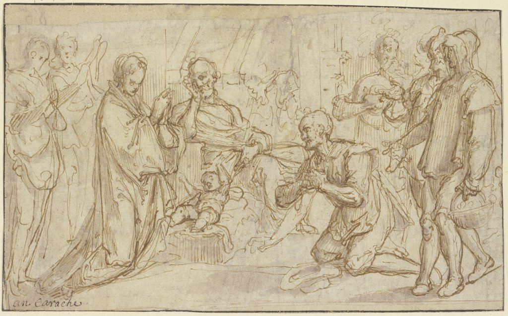 Adoration of the shepherds, Annibale Carracci   ?