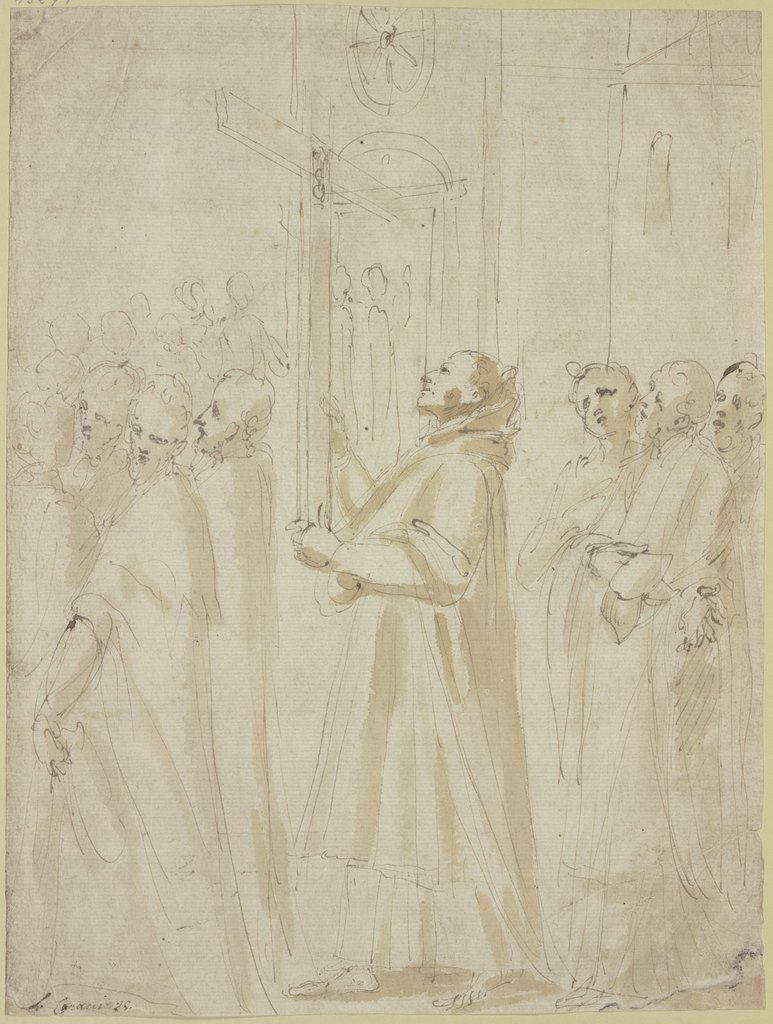 Procession of monks holding the cross, Ludovico Carracci   ?