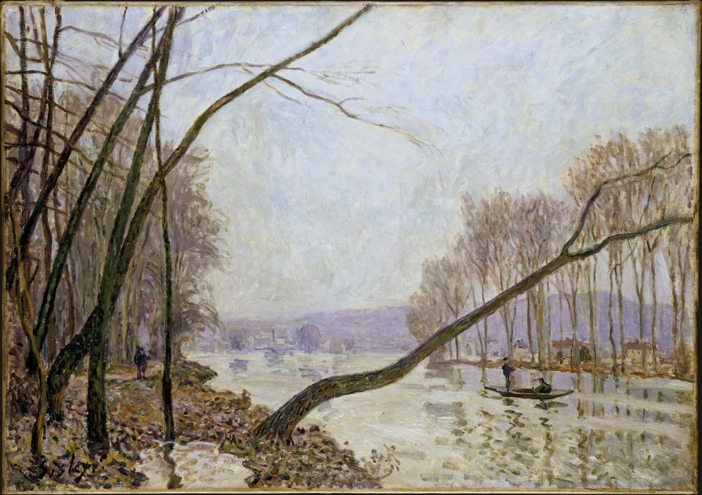 Bank of the Seine in Autumn, Alfred Sisley