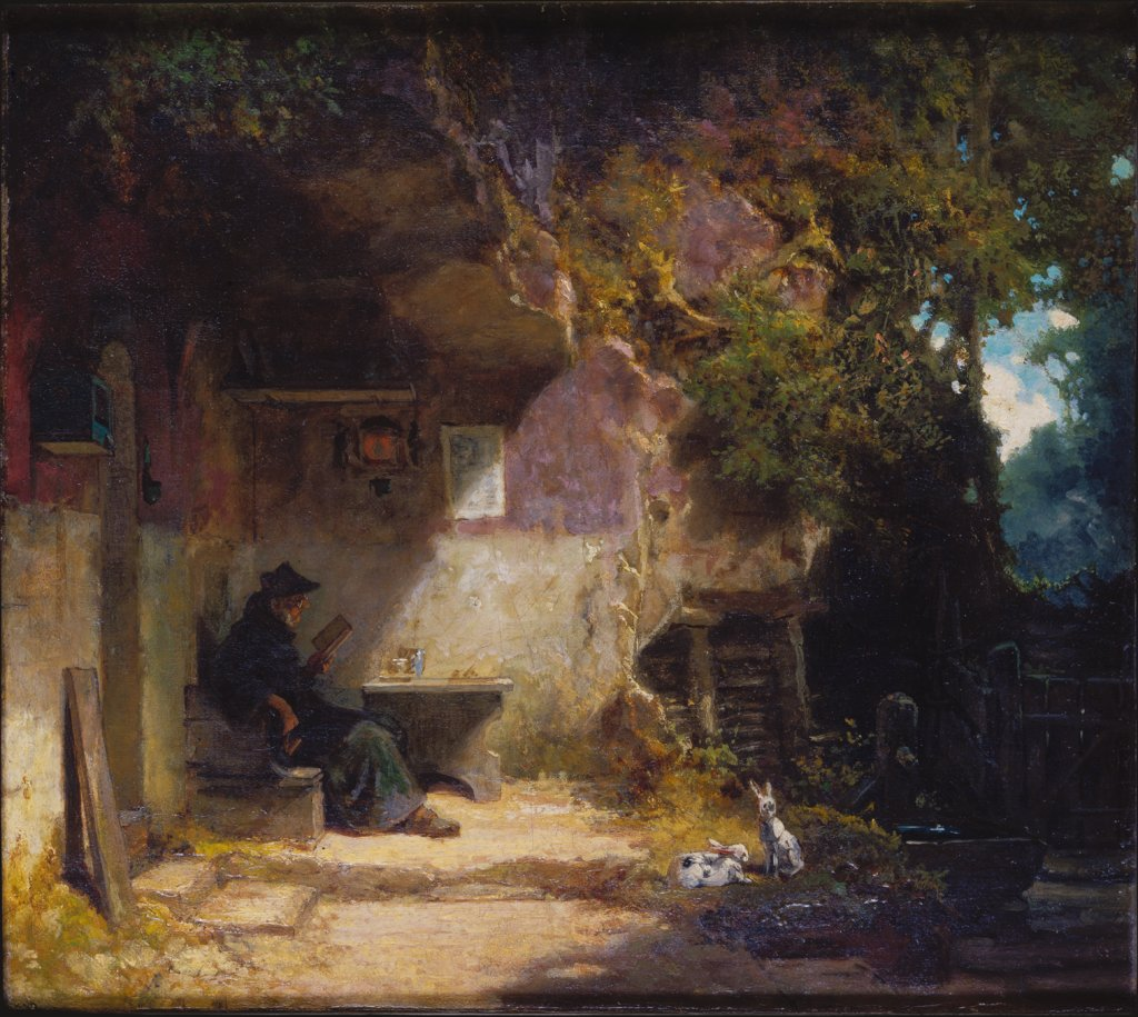 The Hermit in front of His Retreat, Carl Spitzweg