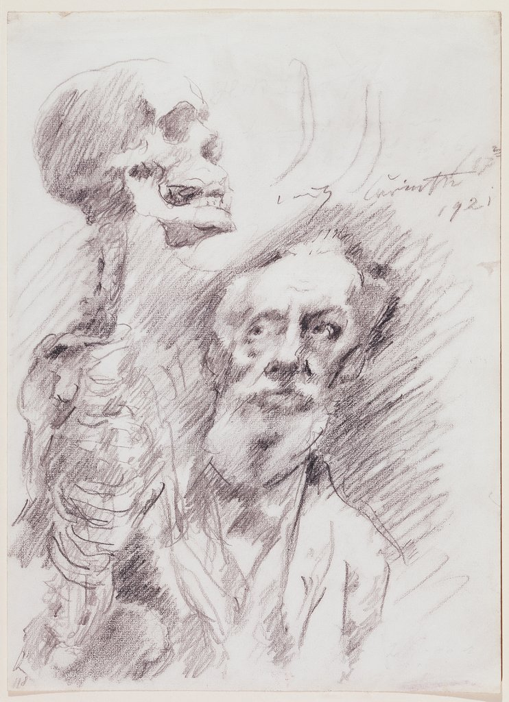 Anatomist with skelleton, Lovis Corinth