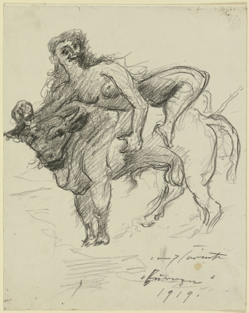 Europa on the bull, Lovis Corinth