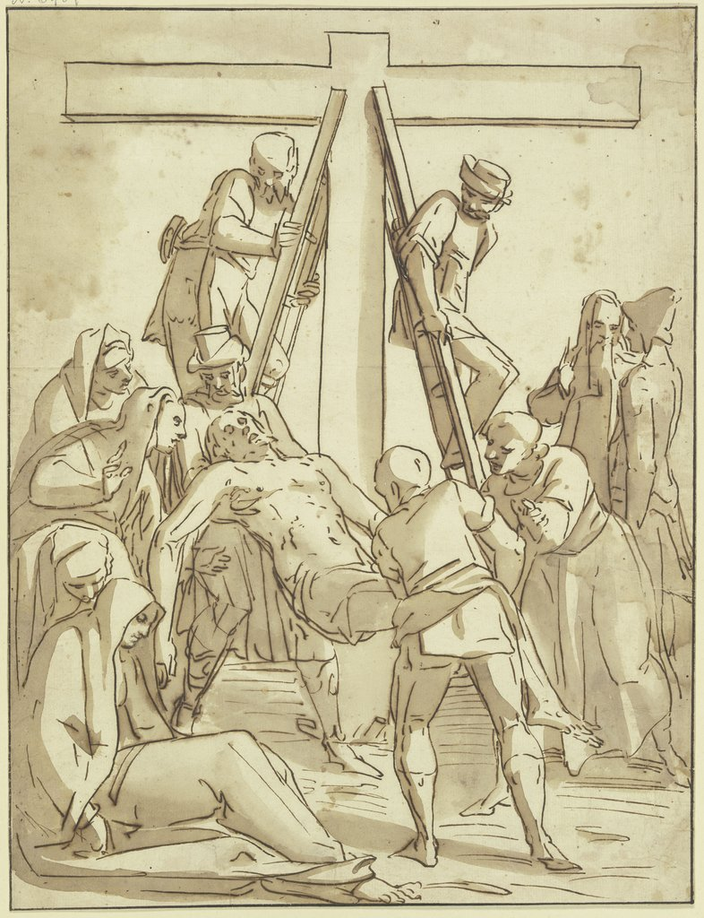 Deposition from the cross, Luca Cambiaso