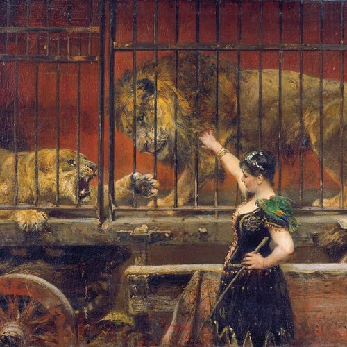 The Jealous Lioness, Paul Meyerheim