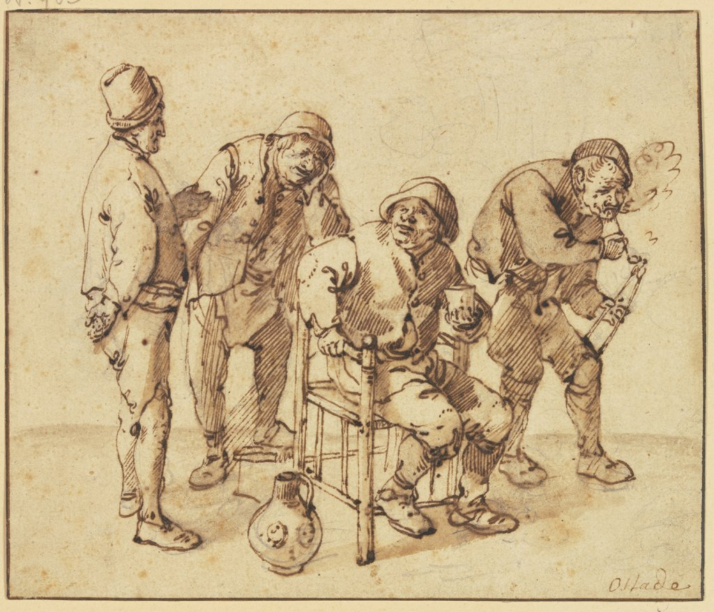 Group of four farmers, Isaac van Ostade