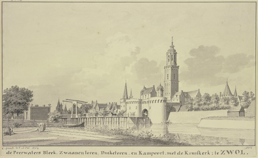 Town view of Zwolle, Cornelis Pronk