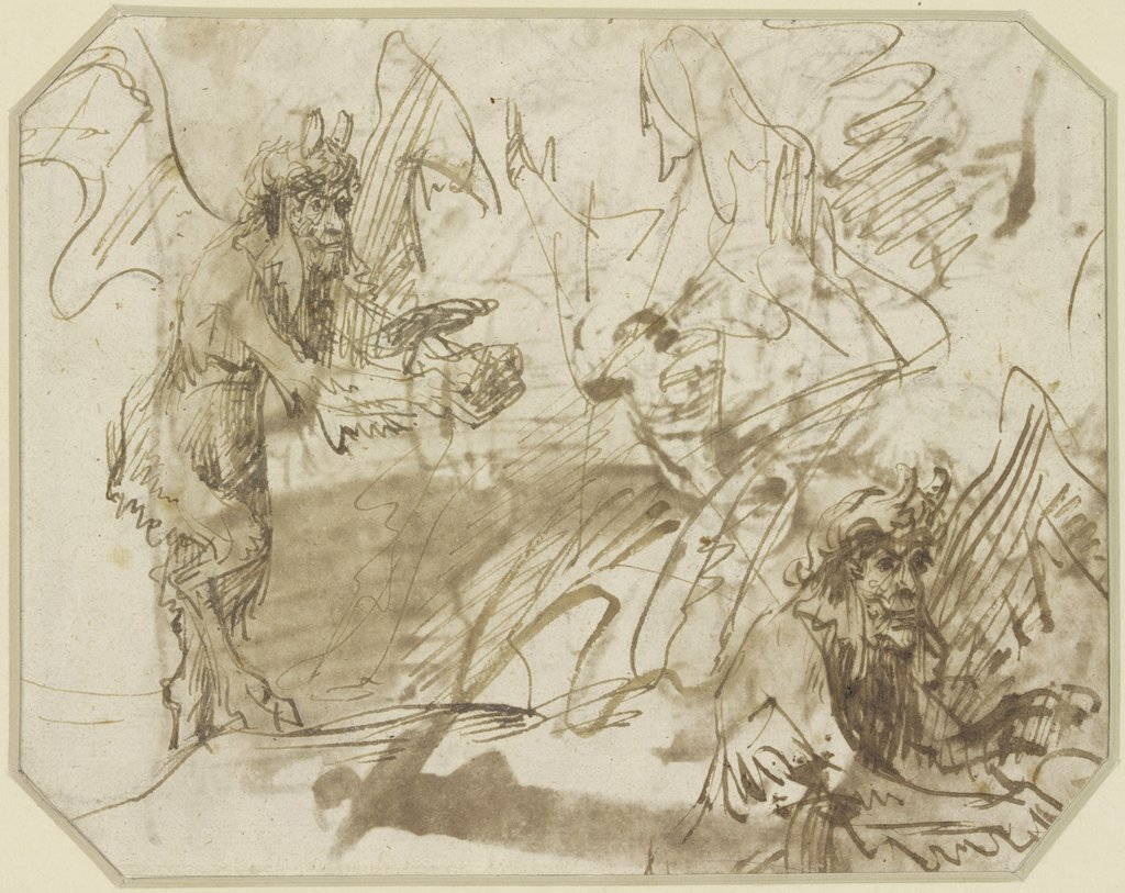 Satan tempting Christ, to change stones into braed, Rembrandt Harmensz. van Rijn   ?