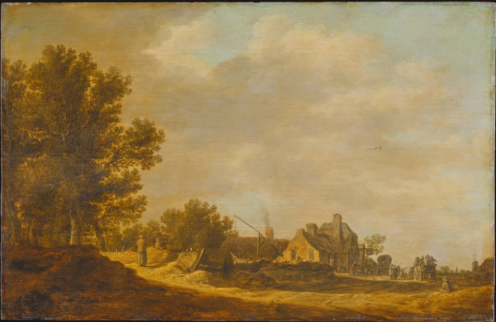 Landscape with Tavern, Jan van Goyen