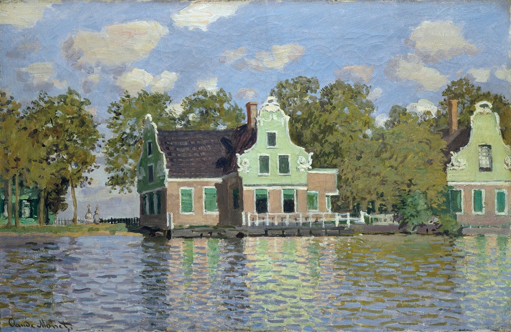 Houses by the Bank of the River Zaan, Claude Monet