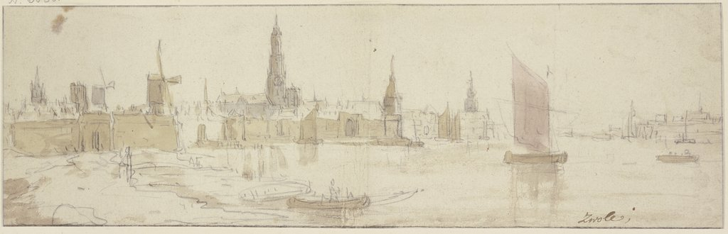 View of Zwolle, Netherlandish, 17th century