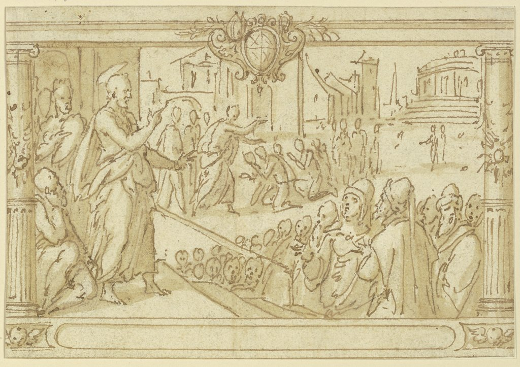 Paul preaching to Athens, Netherlandish, 16th century   ?