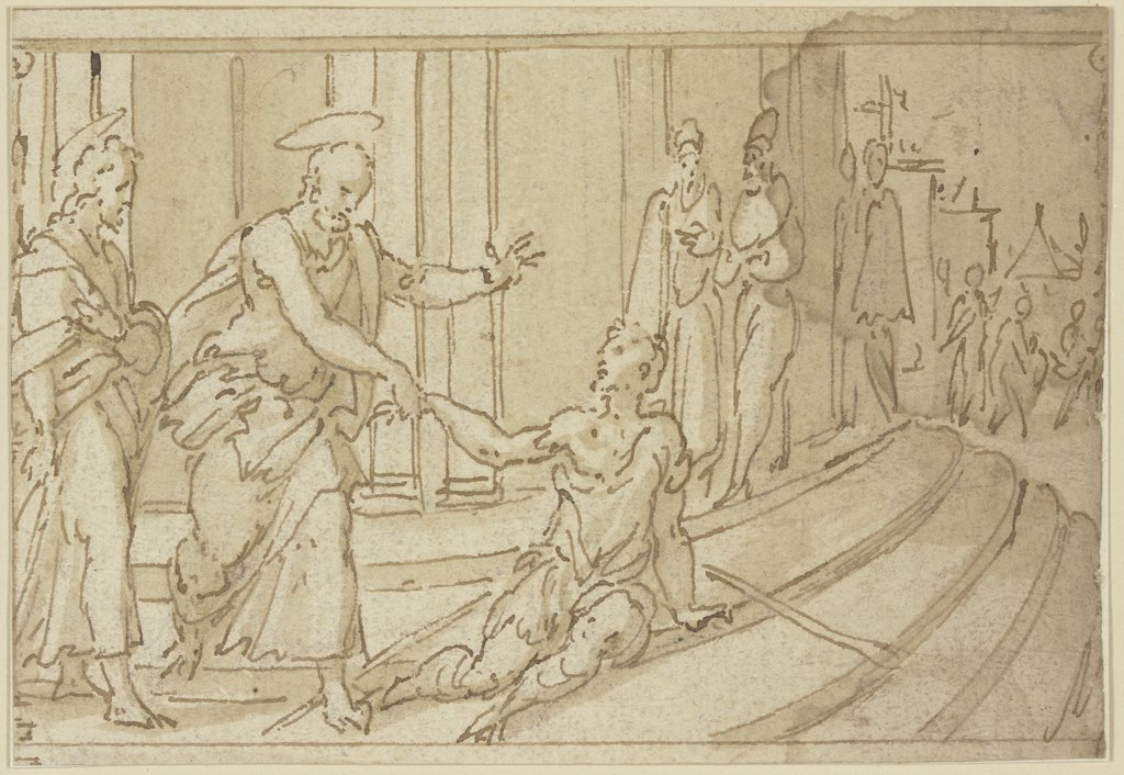 Paul heals the lame, Netherlandish, 16th century   ?