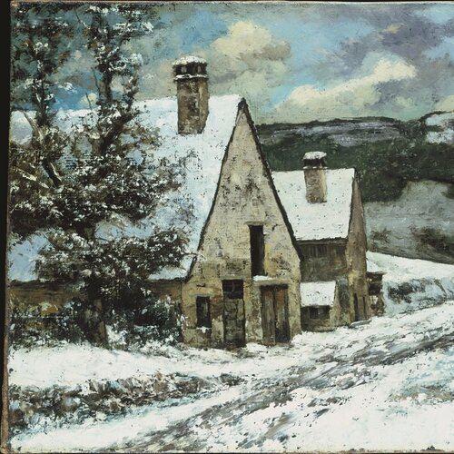 Village Edge in Winter, Gustave Courbet