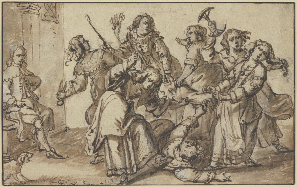 Fight among women, Netherlandish, 17th century