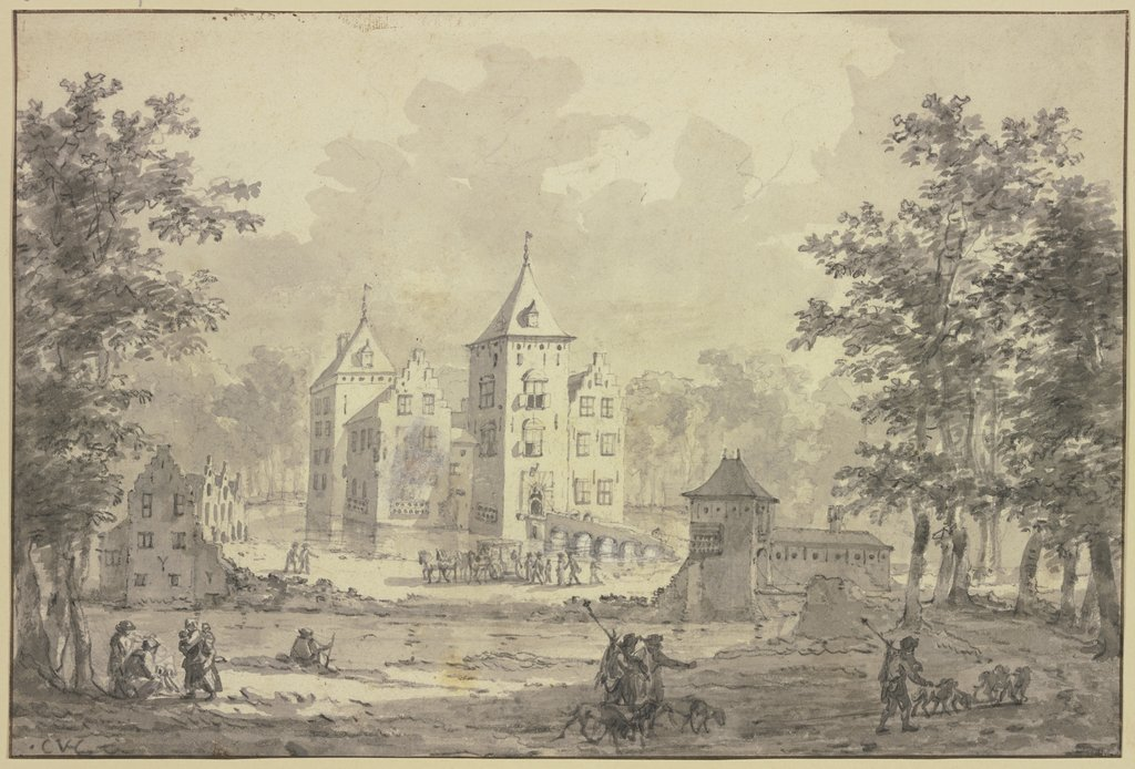 Water castle, Netherlandish, 17th century